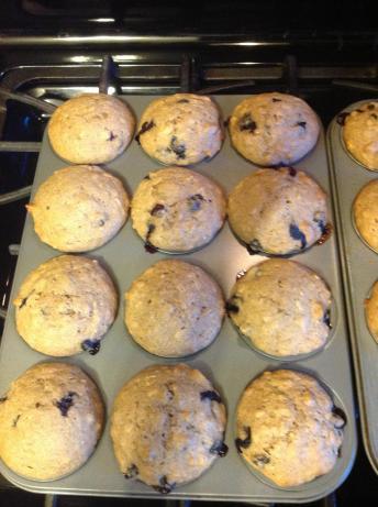 Blueberry banana nut muffins