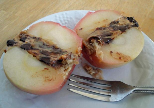 Chocolate Nut Butter Baked Apples (No Added Sugar)