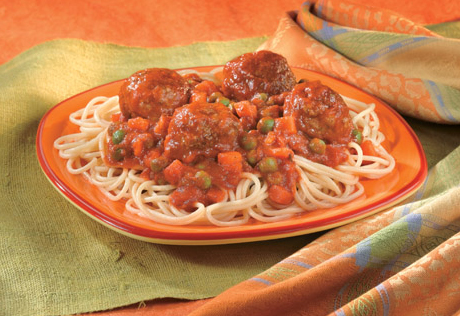 Garden Patch Spaghetti & Meatballs