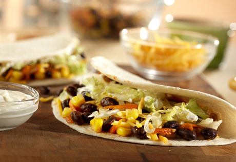 Black Bean and Vegetable Tacos