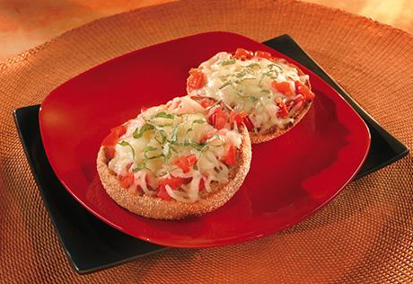 Tomato & Pepper-Topped Mini Pizzas