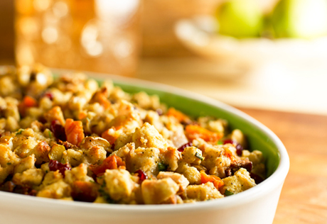 Pear and Dried Winter Fruit Stuffing