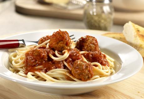 Quick Spaghetti & Meatballs