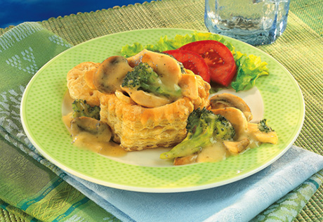 Chicken Dijon in Pastry Shells
