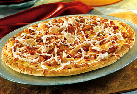 Chicken Ranch Pizza with Bacon