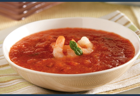 Chilled Shrimp Gazpacho