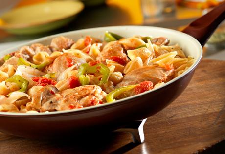 Chicken Cacciatore & Pasta Skillet