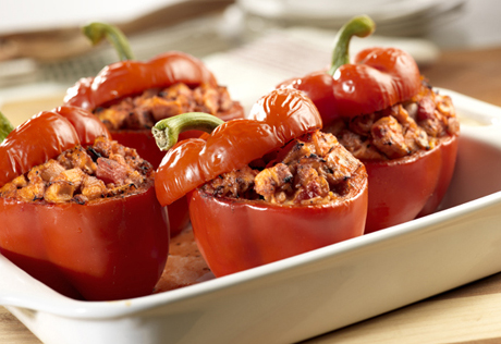 Chicken-Stuffed Bell Peppers