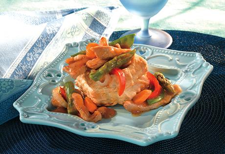 Gingered Pork & Vegetable Shells