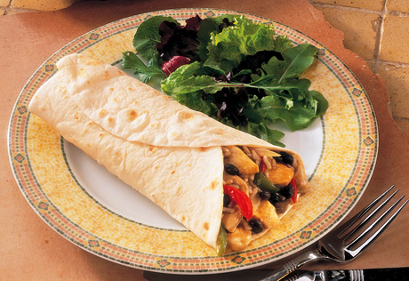 Southwestern Chicken & Pepper Wraps