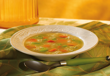Comfort-Me Vegetable Rice Soup