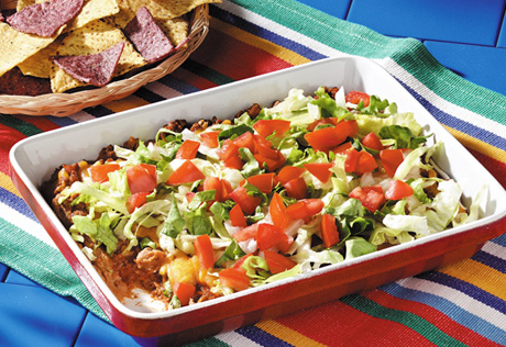 Hot Layered Taco Dip