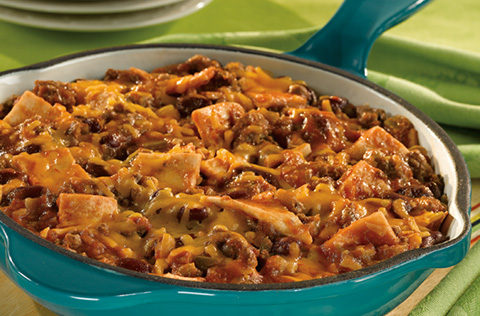 Picante Beef & Bean Skillet