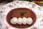 Molded Chocolate Mousse with Raspberry Sauce