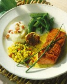 Pacific Salmon With Rosemary-Mustard Sauce