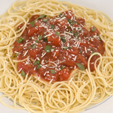 Spaghetti With Cognac Tomato Sauce And Sour Cream