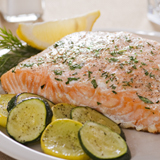 Wine-Poached Salmon With Mustard-Dill Sauce