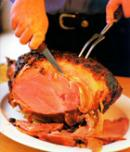Glazed Ham With Poached Orange Slices