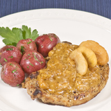 Pork Chops with Mango-Basil Sauce