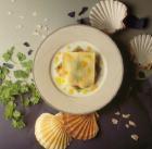 Open Ravioli With Scallops