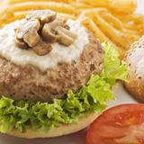 Mushroom Turkey Burgers with Horseradish Sauce