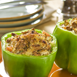 Rice-Stuffed Green Bell Peppers
