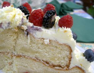 Sour Cream-Coconut Soya Cake