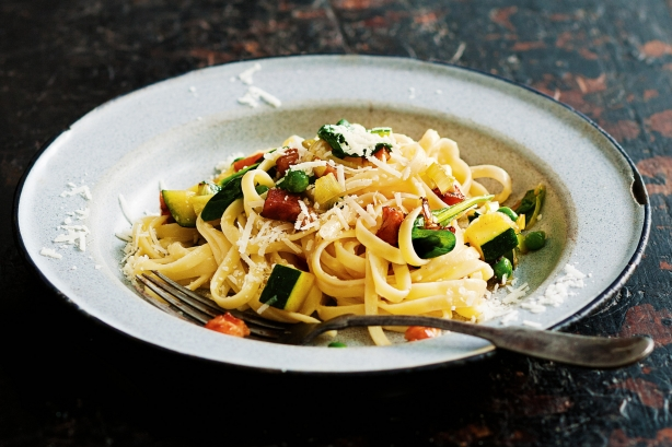 Fresh vegie carbonara