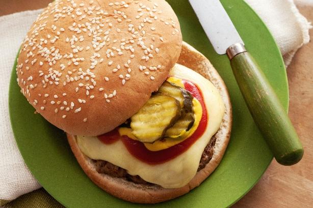 American-style beef burgers