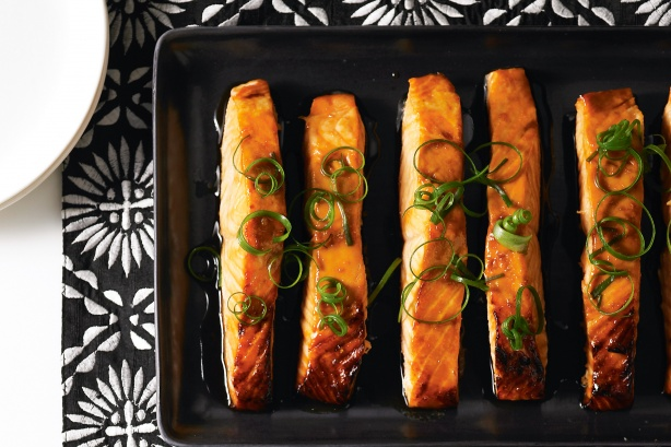 Teriyaki salmon fillets