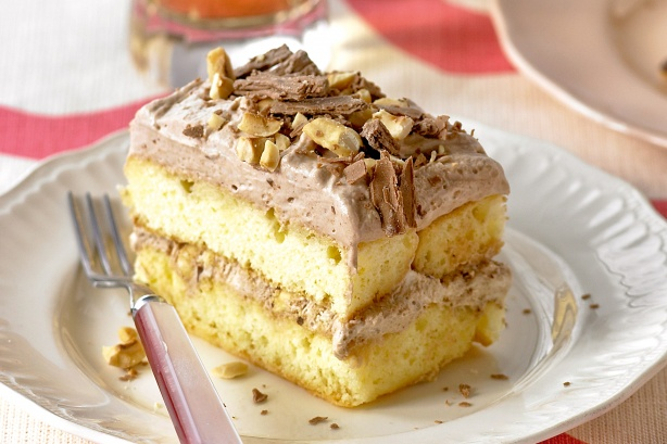 Chocolate and hazelnut slice