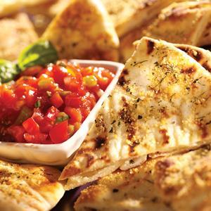 Herbed Parmesan Pita Crisps