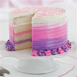 Bold Pink & Purple Ombre Cake
