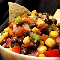 Heather's Cilantro, Black Bean, and Corn Salsa
