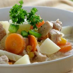 Hearty Turkey Stew with Vegetables