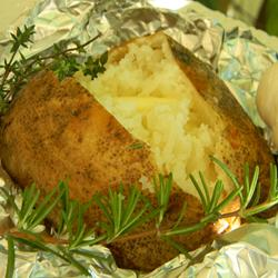 Herb Garlic Baked Potatoes