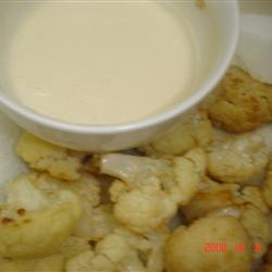 Fried Cauliflower with Tahini Sauce