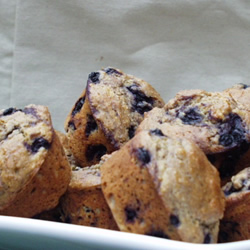 Black and Blueberry Muffins