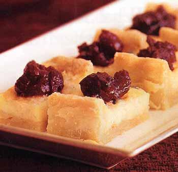 Stilton Tart with Cranberry Chutney