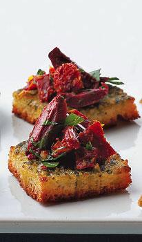 Olive Tomato Squares