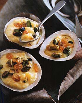 Rice Pudding with Pistachios, Raisins and Saffron