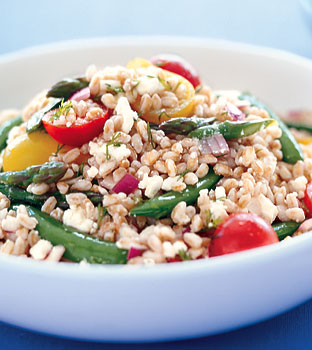 Farro Salad with Peas, Asparagus, and Feta