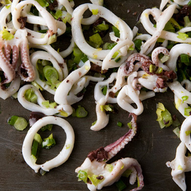 Calamari-Olive Salad