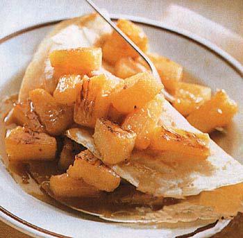 Honey-Ginger Pineapple Crêpes