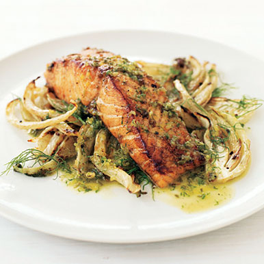 Salmon with Fennel and Pernod