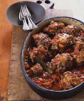 Spanish-Style Oxtails Braised with Chorizo