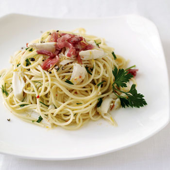 Spaghettini with Crab and Spicy Lemon Sauce