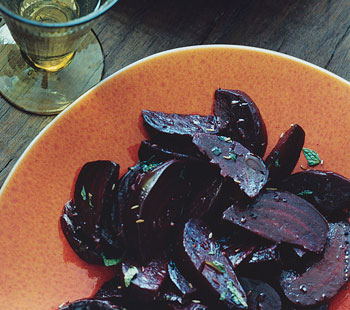 Roasted Beets with Cumin and Mint
