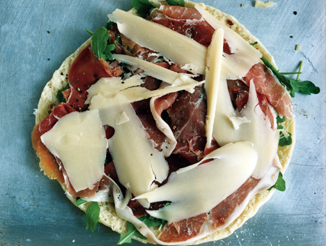 Flatbread Stuffed with Cheese and Prosciutto (Torta al Testo )