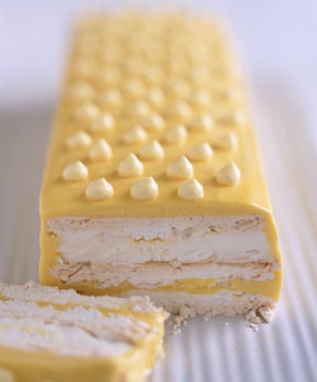Frozen Passion Fruit Meringue Cake